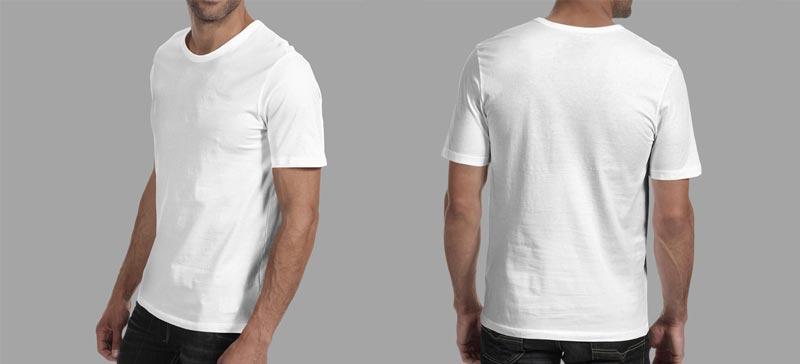تی شرت پنبه ای یقه گرد و یقه هفت