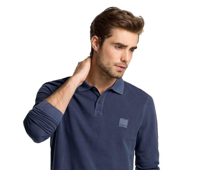 تی شرت آستین بلند مردانه یقه دار جودون